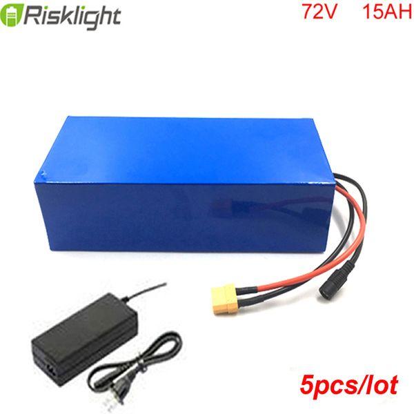 5 adet / grup Fabrika Satış 72 V 15Ah Dev Lityum Pil Paketi Şarj Dengesi ile Elektrik Dengesi Bisiklet için BMS PVC Paketi