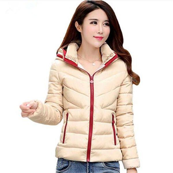best selling Wholesale- Winter Jacket Women Hooded Cotton Coat fashion Women Jaqueta Feminina Chaquetas Mujer Casacos De Inverno Feminino Down jacket
