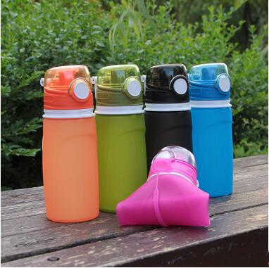 New Products Portable Silicone Folding Kettle Outdoor Hiking Camping Anti-dropping Water Bottles Hydration Gear Safe and Harmless