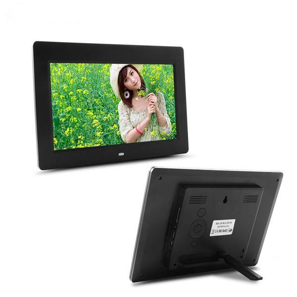 10 polegadas HD Digital Photo Frame 1024 * 600 MP3 MP4 despertador foto Digital quadros foto alarme
