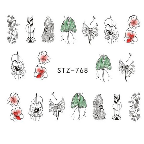 1 лист новый портативный цветок ногтей наклейка завод ногтей передача стикер обертывания аксессуары DIY наклейки