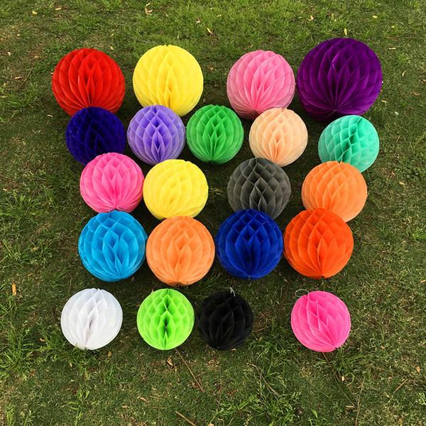 15/20/25/30cm Multicolor Decorative Flower Paper Lantern - Honeycomb Ball Lanterns Wedding Party Decoration - Kid Birthday Babyshower Decor