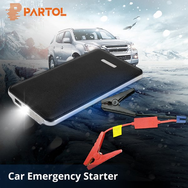 Partol Portable Jump Starter 12V 8000MAH Auto Engine Power Bank Mini Car Battery Multifunction Starting Up To 2.0L Car