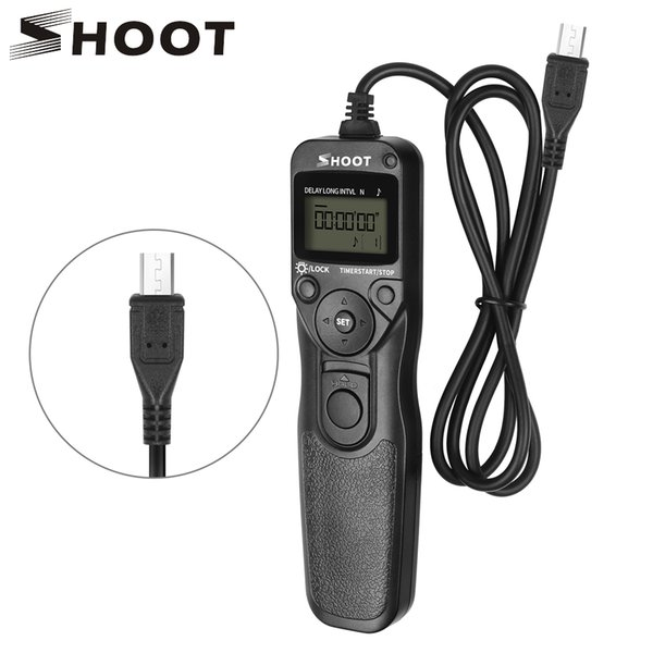 wholesale for Camera RM-VPR1 LCD Timer Remote Control Shutter Release For Sony Alpha A6000 A7 A7 II A7R A58 A5000 A7RII A7II NEX-3NL