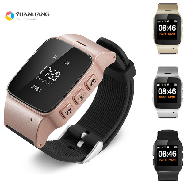 D99 Elderly Kids GPS LBSTracker Android Smart Watch for Map SOS Wristwatch GSM Wifi Safety Anti-Lost Locator Watch PK D100