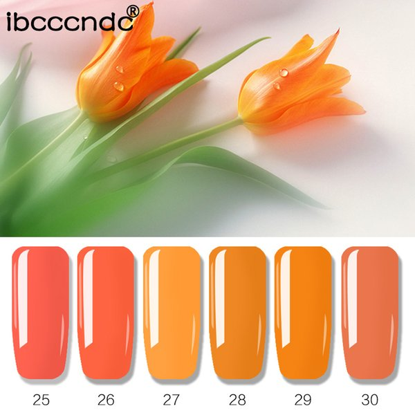 10ml Soak Off Smalto per unghie Gel UV Vernice 6 colori Gel Nail Semi Permanente Lacca Manicure Set Nail Art Design 6pcs / set IBCCCNDC