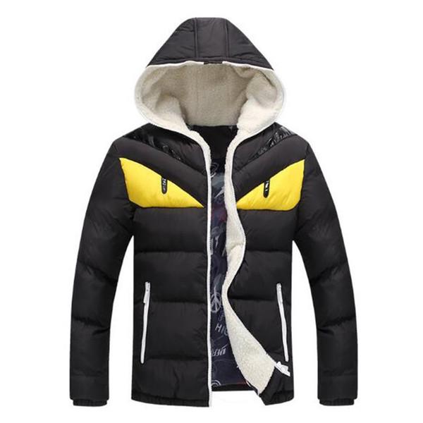Новое прибытие 2018 Мода зима мужские ветровки смешной капюшоном куртки Плюс Разме
