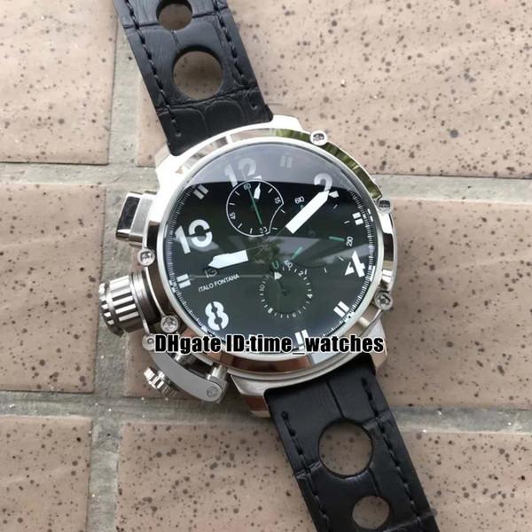 High quality NEW U51 U-51 Chimera Bronze 7474 steel case men's Quartz Chronograph watches Leather strap Gents Luxury sport watches UB101