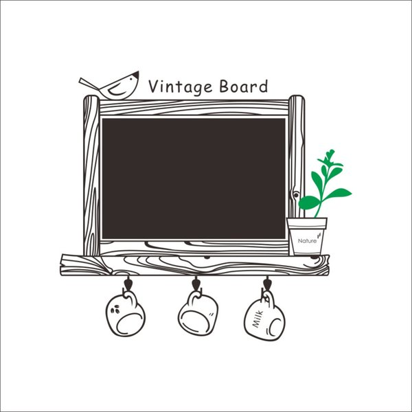 Factory Price Decal Decor Blackboard Removable Waterproof Vinyl Wall Sticker Kitchen