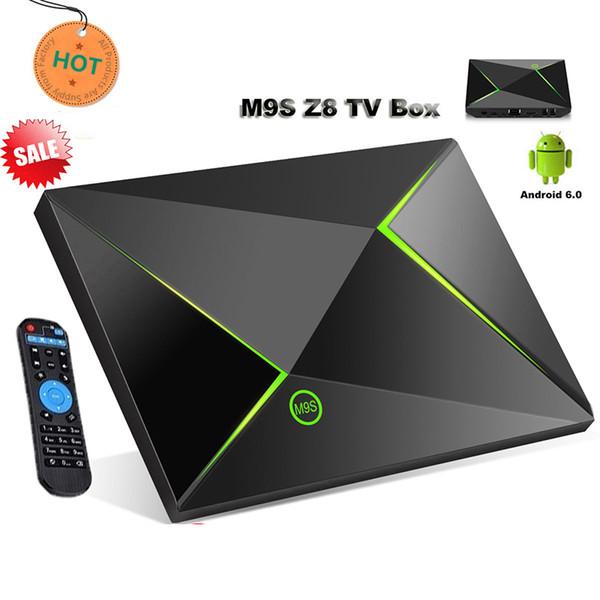 m9s z8 Android TV Box 2 GB di memoria 16 GB di archiviazione Ott Box Amlogic S905X Quad Core Streaming Media Player Box WiFi