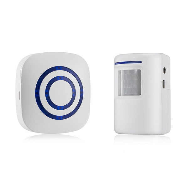 Wireless Driveway Alert: Infrared Motion Sensor Door Bell Alarm Chime with 1 Receiver and 1 Sensor -38 Chime Tunes - LED Indicators