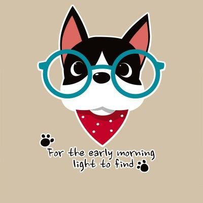 Sevimli Köpek Baskılı 17 * 22 CM Için Özelleştirilmiş DIY Yamalar T-shirt Hoodies Üst Giysi Termal Transfer Yama Ev Ütüler Giyim