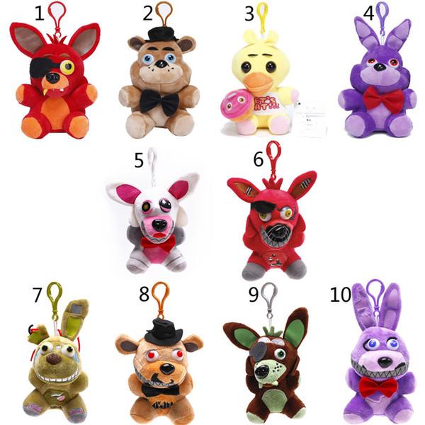 best selling 15cm-18cm Five Nights At Freddys plush dolls New Soft Stuffed Bonnie Foxy Fazbear Bear Cartoon Toys Kids Birthday Party Gift B001