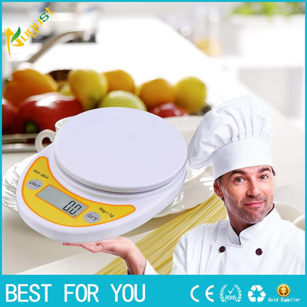 WH-B04 5kg / 1g LCD Digital Electronic Accurate Scale Helper Helper para balanceo de alimentos de peso