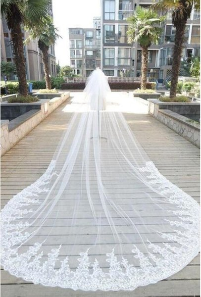 2018 New Arrival Wedding Veils Wedding Hair Custom Made 3D Lace Flowers Bridal Wear 7 Styles Wedding Veil With Comb