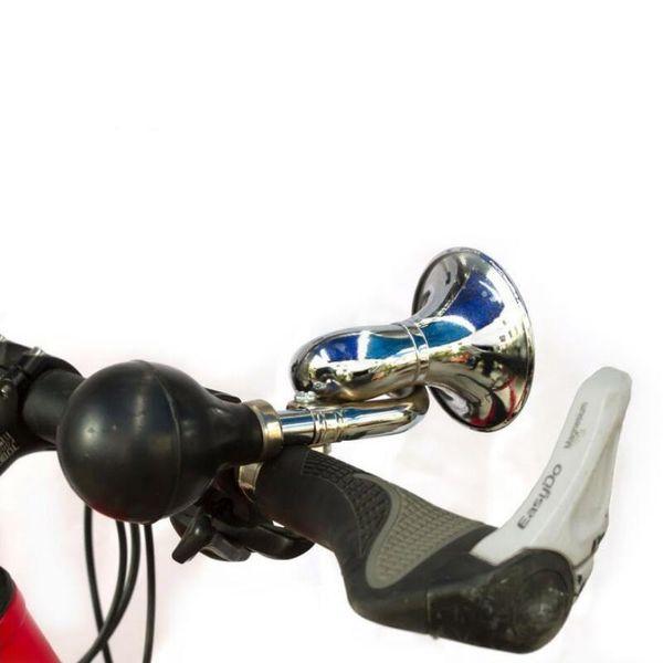 Bici de la bicicleta que completa un ciclo Metal retro Cuerno de aire Hooter Bell Alarma Bugle Caucho Apretón Luz de la bombilla Envío gratis