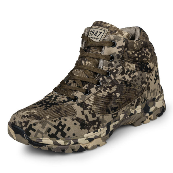2018 Winter Tactical Men Boots Camouflage Warm Wool Cotton Army Combat Military Shoes Men's Ankle Snow Boots