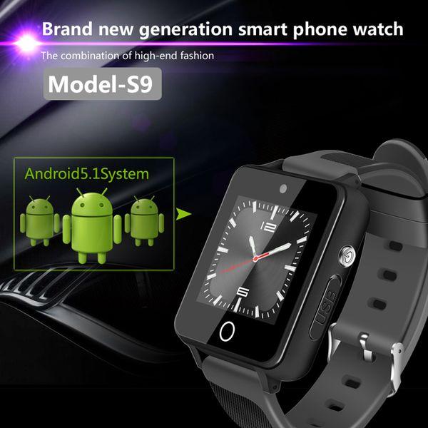 ZGPAX S9 3G Smart Watch Android 5.1 Watch Phone Recording Function RAM 1G+ROM 16G WiFi GPS SIM Quad Core BT4.0 Smartwatch