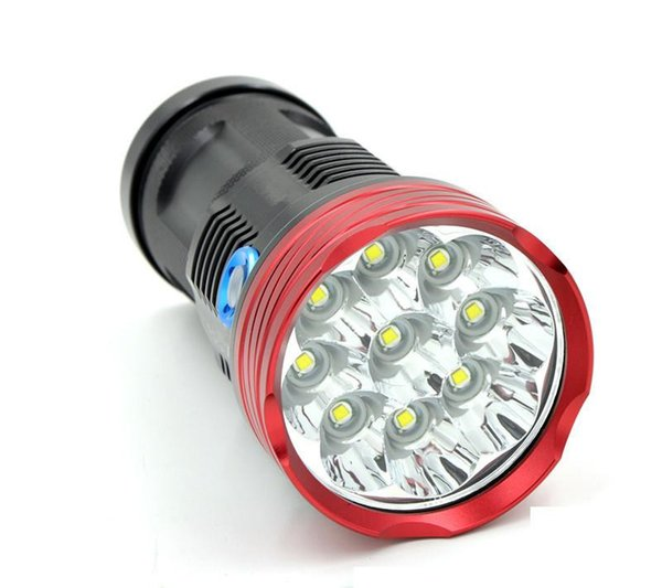 wholesale Custom logo 10000 lumens LED flashlights 9T6 XM-L T6 Flashlight Torch For Camping Hiking free DHL