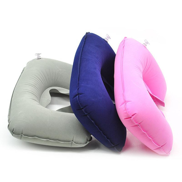 U Shaped Travel Pillow Neck Pillow Inflatable Portable Car Headrest Soft Air Cushion for Home Office Travel Airplane