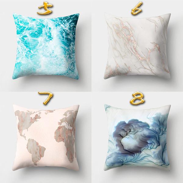 Wholessale 16 Designs 45*45cm Marvel Texture Cushion Covers Bedroom Seat Decorative Pillow Home Decor Kitchen Accessories Party Decoration