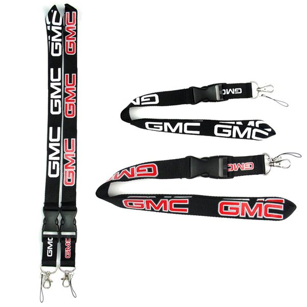 top popular GMC Car Logo Neck Straps Keychain Lanyard Detachable Hanging Lanyards ID Badge Holder for CellPhone XS Max S9 Plus 2020