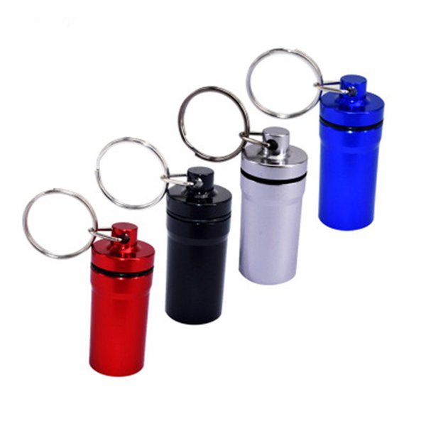 Aluminum Alloy Outdoor Save First Aid medicine Kit Small Cartridge Key chain fast shopping fast shopping jc-131