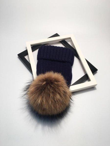 navy brown fur