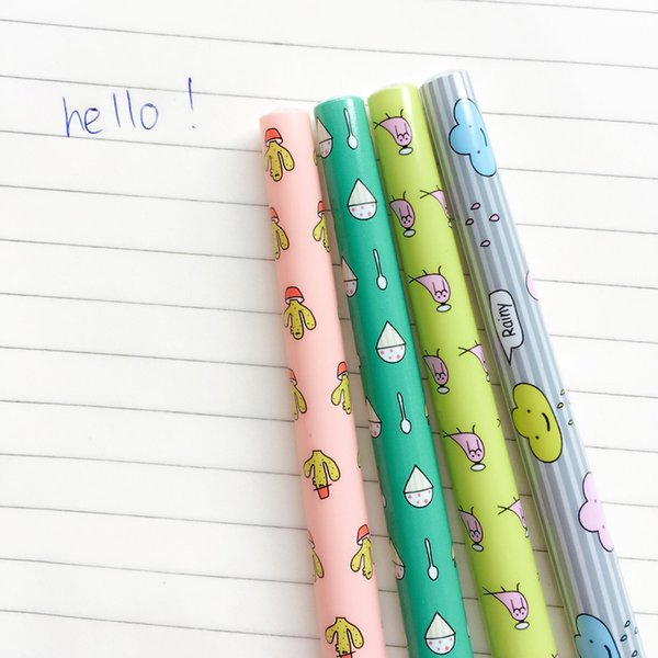 Fresh Cactus Bird Cloud Ice Cream Ball Ballpoint Pen Writing Signing Pen Office School Supply Student Stationery 0.5mm