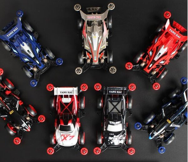 Child four-wheel drive child toy car electric four-wheel drive brother toy racing puzzle mini assembly racing gift