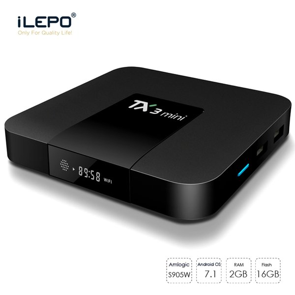 top popular Android 7.1 TV Box TX3 MINI 4K S905W smart TV Box H.265 4K 1080P movies streaming tv box better than mxq 2019