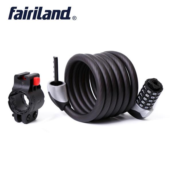 Câble antivol 6 pieds auto-enroulant intégré 5 chiffres réarmable anneau combiné serrures vélo anti-vol vélo vélo serrure