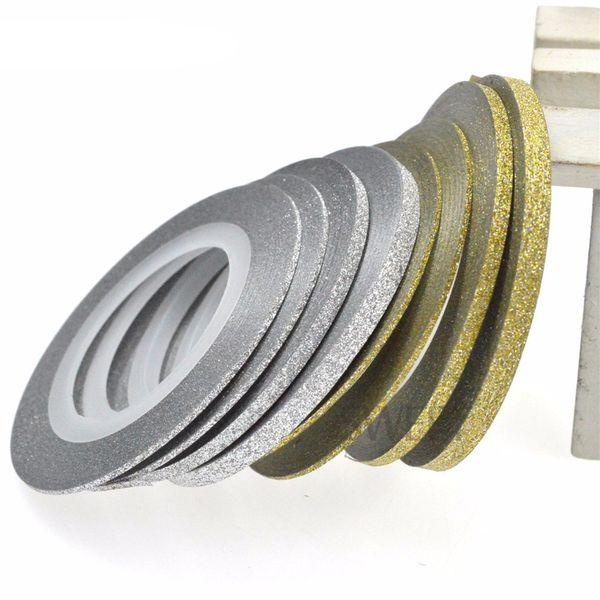 ew 20pcs/lot 1/2/3 Laser Gold Silver Glitter Striping Tape Line Nail Art Tips Decals Beauty Decoration DIY Nail Sticker New 20pcs/lot 1/2...
