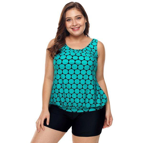 descuento especial nueva productos calientes al por mayor online 2018 Plus Size Swimwear Women Summer Black Polka Dot Tank Top And Sport  Swimsuit Women Two Pieces Banadores Mujer From Jf888jf, $30.16   Dhgate.Com