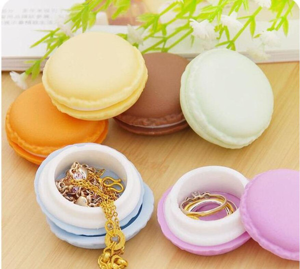 best selling Wholesale gifts box Cute Candy Color Macaron Mini Cosmetic Jewelry Storage Box Jewelry Box Case Birthday Gift Display