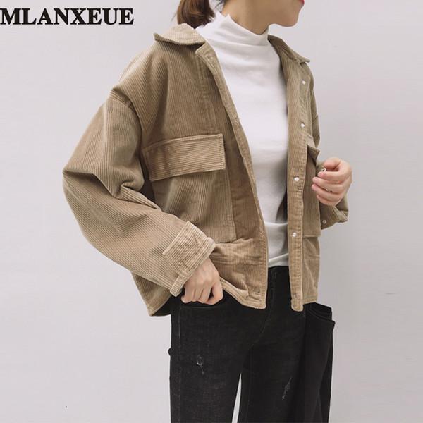Großhandel 2017 Herbst Jacke Frauen Vintage Harajuku Mäntel Weibliche Casual Langarm Jacken Damen Strickjacke Schwarz Winter Kleidung Mädchen Von