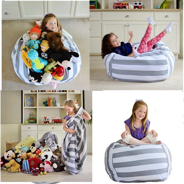 Astounding 2019 Extra Large Modern Storage Stuffed Animal Storage Bean Bag Chair Portable Kids Clothes Toy Storage Bags From Luckies 8 94 Dhgate Com Squirreltailoven Fun Painted Chair Ideas Images Squirreltailovenorg