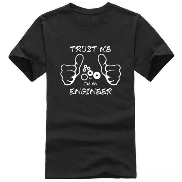 Camisetas de películas con gráficos cortos Confía en mí, soy un ingeniero O-cuello Camisetas para hombre