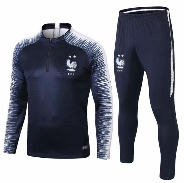 2019 French two-star jacket 2018 2019 POGBA GRIEZMANN football jogging france new long sleeve soccer tracksuit training track suit