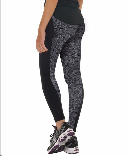Plus Size Black/Gray Women's Fitness Leggings Workout Pants High Waist Leggings Ladies Sporting Quick-drying Trousers40