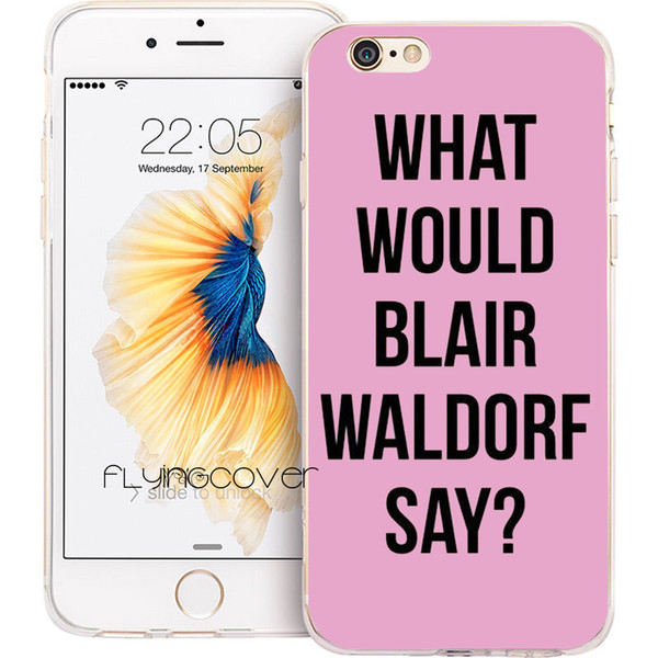 Gossip Girl Blair Waldorf Clear Soft TPU Silicone Phone Cover for iPhone X 7 8 Plus 5S 5 SE 6 6S Plus 5C 4S 4 iPod Touch 6 5 Cases.