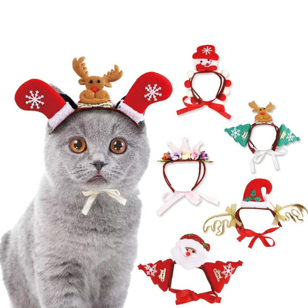 Christmas Pet headdress Halloween headband hat variety of cat dog accessories funny Party Headwear Cosplay Headdress