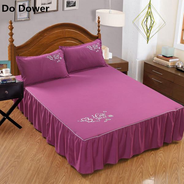 Reine Farbe ohne Oberfläche elastischen Band Bett Rock 13 Farben Bettlaken Tagesdecke Polyester Baumwolle Matratzenbezug