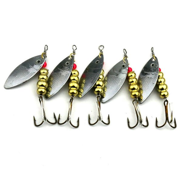 5 PCS Iscas Spinners, Spinnerbaits, Spoons Truta Spinner Kit colheres de pesca de metal isca 7 cm Blade Spinner Baits11g falsa Isca de Pesca Iscas B