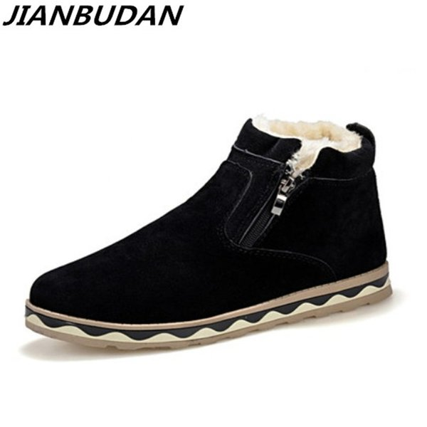 2019 JIANBUDAN High quality Men warm winter snow boots leisure Martin boots 2019 new non-slip winter ankle boots warm cotton shoes Sneakers