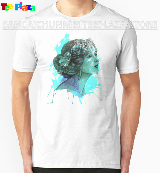 Teeplaza Stranger Things Design T Shirt 2017 New Print O-Neck Short-Sleeve Tee Woman With Floral Wreath In Watercolor For Men