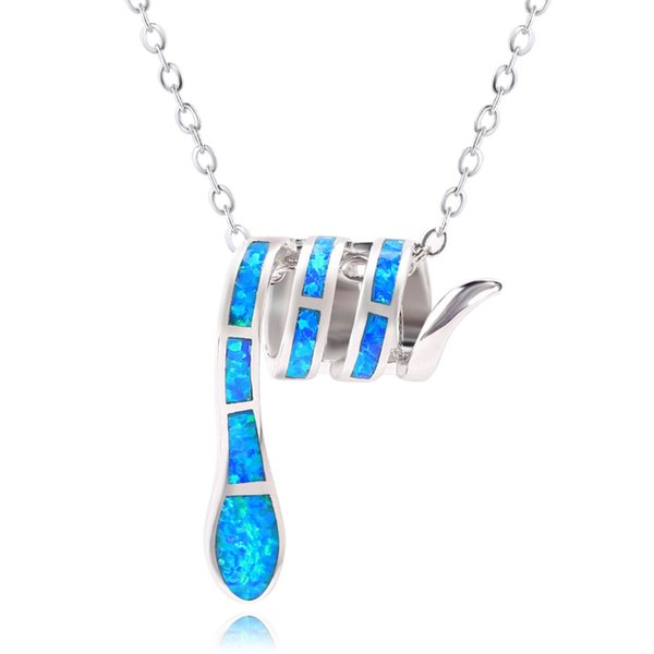 KELITCH Initial Choker Necklace Syuthetic Opal Extension Small Sideways Cross First Necklace