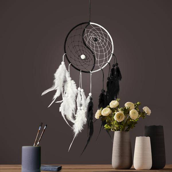 Dream Catcher Antik İmitasyon Büyülü Orman Dreamcatcher Tüyler Duvar Asılı Dekorasyon Süs Ile El Yapımı Dream Catcher Net