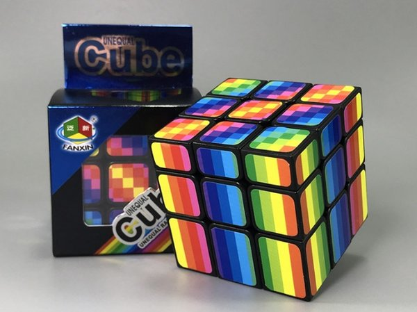 Rainbow Magic cube Professional Speed Puzzle Cube Twist Toys Classic Magic Cube Adult and Children Educational Toys