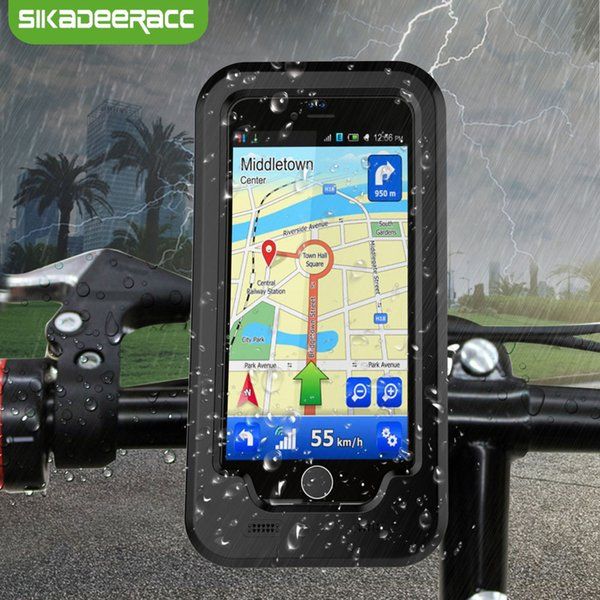 Waterproof Bicycle Phone Cases For iPhone X 7 8 Plus 6 6s Plus Shockproof 360 Degree Cycling Phone Holder Stand Back Covers SH89